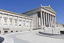 Free Austrian Parliament Royalty Free Stock Image - 26585886
