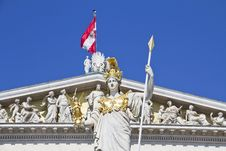 Free Austrian Parliament With Pallas Athene Royalty Free Stock Photo - 26587355