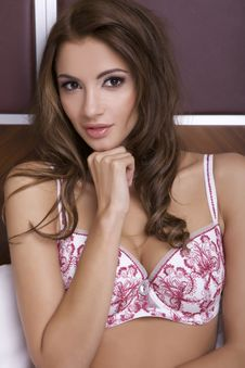 Free Beautiful Brunette In Bed Royalty Free Stock Photos - 26589058
