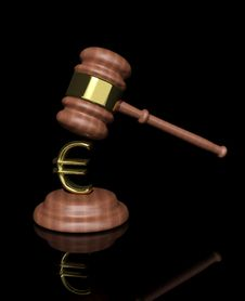 Gavel With Euro Design Royalty Free Stock Images