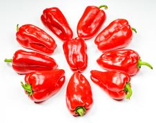 Pepper Star Royalty Free Stock Photos