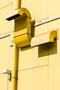 Free Air Vent On Yellow Wall Stock Photography - 26590722