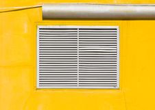 Air Vent On Yellow Wall Stock Photography