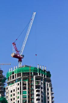 Crane Hook On A Blue Sky Stock Photography