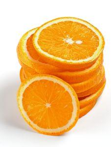 Stack Of Orange Lobules Stock Photography