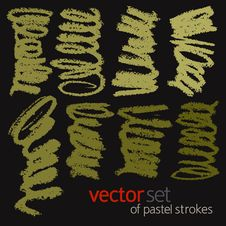 Free Pastel Strokes, Vector Set 1 Stock Photos - 26592993