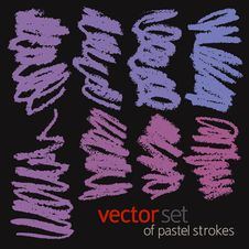 Free Pastel Strokes, Vector Set 2 Stock Photography - 26593062
