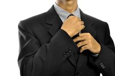 Free Adjusting Necktie Stock Images - 26593824