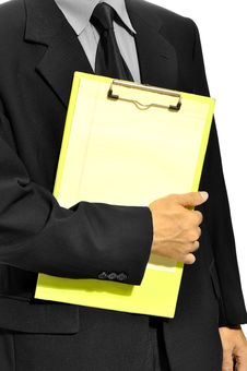 Free Holding Clipboard Stock Image - 26593841