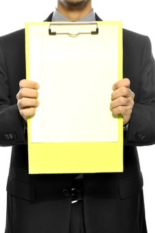 Free Holding Clipboard Stock Photos - 26593863
