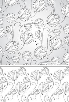 Free Flower Background And Border Stock Image - 26594521