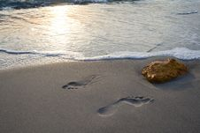 Free Foot Prints. Stock Photo - 26594820