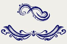 Free Calligraphic Design Element. Doodle Style Stock Image - 26595731