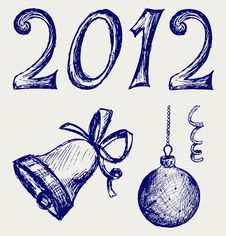 Free Happy New Year 2012 Royalty Free Stock Photography - 26595767