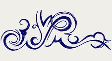 Free Calligraphic Design Element. Doodle Style Stock Image - 26595781