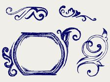 Free Calligraphic Design Element. Doodle Style Stock Photos - 26595843