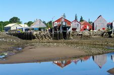 Free Fish Sheds At Seal Cove Royalty Free Stock Images - 26599939