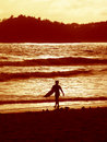 Free Sunset Surfer 2 Royalty Free Stock Photos - 2660868