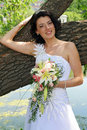 Free Bride With Lily Flowers Stock Photography - 2668522