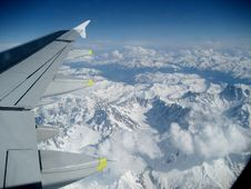 Free Swiss Alps From Above Royalty Free Stock Photography - 2661537