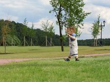 Free Boy On The Grass Stock Photo - 2661790