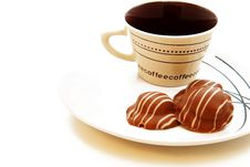 Free Coffee With Chocolate Cookies Royalty Free Stock Photo - 2663535