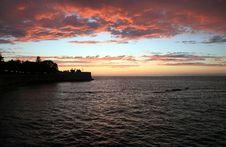 Free Sunset On Sea Royalty Free Stock Photos - 2663748