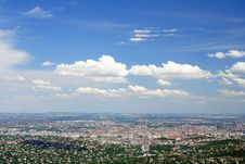 Free City And Blue Sky Royalty Free Stock Photo - 2664825