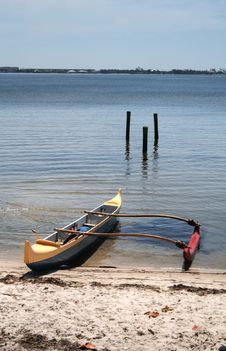 Outrigger Canoe Royalty Free Stock Images