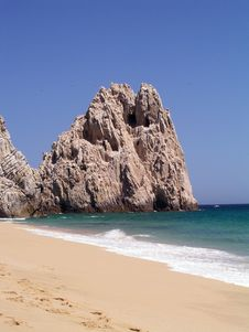 Free Lover S Beach Pacific Cabo Royalty Free Stock Photography - 2665307