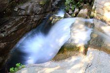 Above The Sabbaday Falls Stock Photos