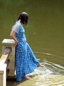 Free Woman Near Water Stock Photo - 2667400
