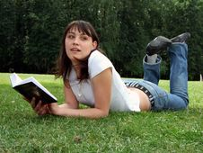 Free Girl With A Book Royalty Free Stock Photo - 2668045