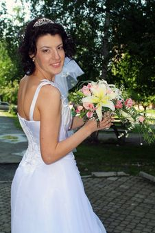 Bride With Lily Flowers
