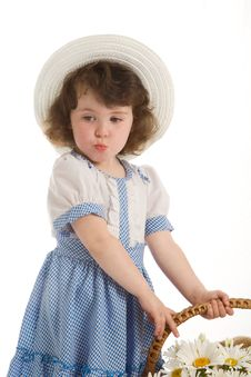 Free Little Girl With Bonnet Royalty Free Stock Image - 2669526