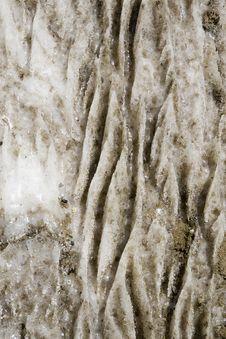 Eroded Salt Stone Royalty Free Stock Photography