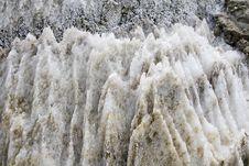 Eroded Salt Stone Stock Image