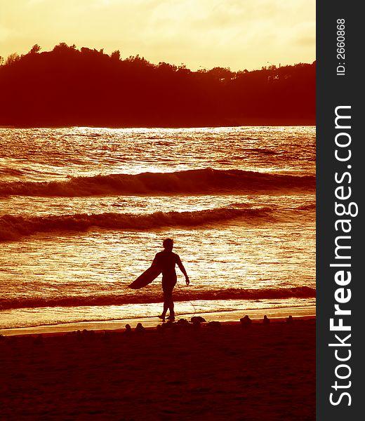 Sunset surfer 2