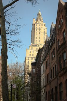 Free Brownstone Apartments, Upper West Side, NYC Stock Image - 26601111