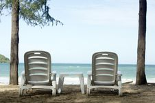 Free Beach Chair. Stock Images - 26610174