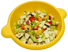 Free Chopped Raw Vegetables Royalty Free Stock Photography - 26610977
