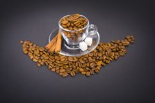 Free Glass  Cup With  Coffee Beans Stock Photo - 26619320