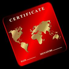 Free The Certificate Stock Image - 26619581