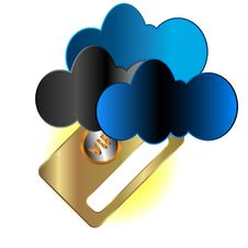 Free Vip Card In Clouds Stock Image - 26619601