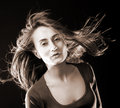 Free Woman With Hair Flying Royalty Free Stock Images - 26620869