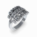 Free Wedding Silver Diamond Ring Isolated Royalty Free Stock Photo - 26623645