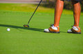 Free Golfer Putting On The Green Closeup Royalty Free Stock Photography - 26623937