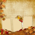 Free Vintage Photoframes With Autumn Leaves Royalty Free Stock Photos - 26624858