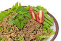 Free Thai Spicy Minced Meat Salad Royalty Free Stock Images - 26628059