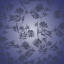 Free Blue Floral Seamless Background Royalty Free Stock Images - 26620559